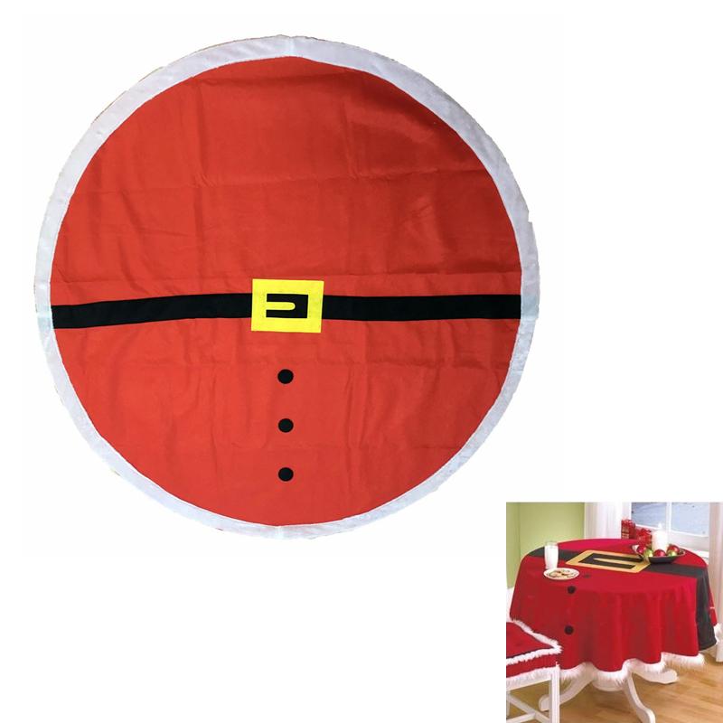weihnachten tischdecke weihnachtsmann tischtuch abwaschbar rund dekoration 148cm ebay. Black Bedroom Furniture Sets. Home Design Ideas
