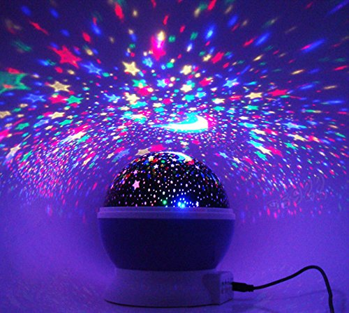 New Baby Sleeping Rotating Sky Moon Star LED Projector ...