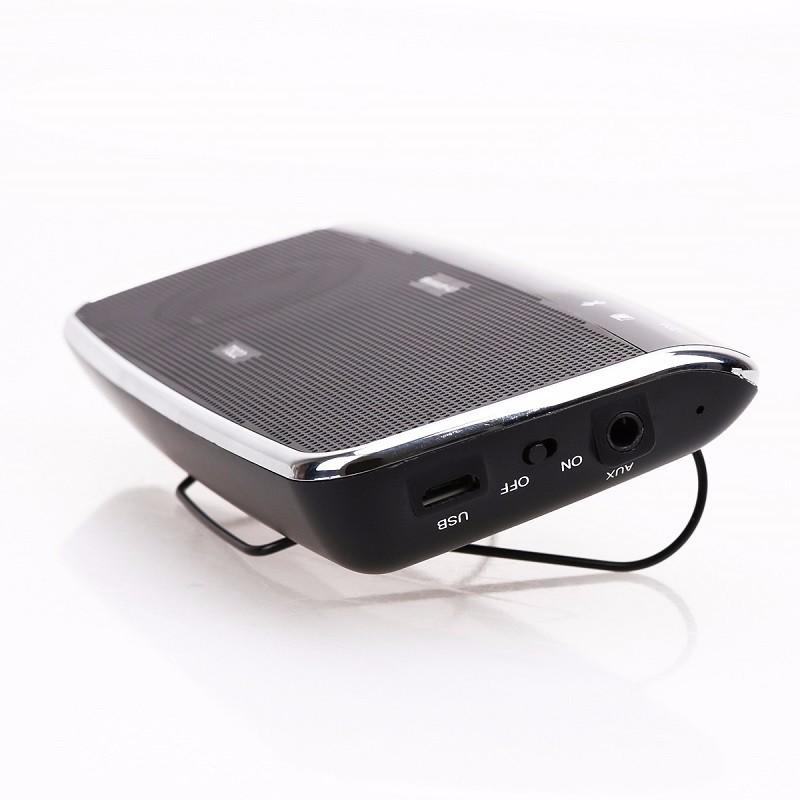 Car Bluetooth Music Receiver With Handsfree: Universal Bluetooth Car Speakerphone Sun Visor Handsfree Car Kit Music Receiver