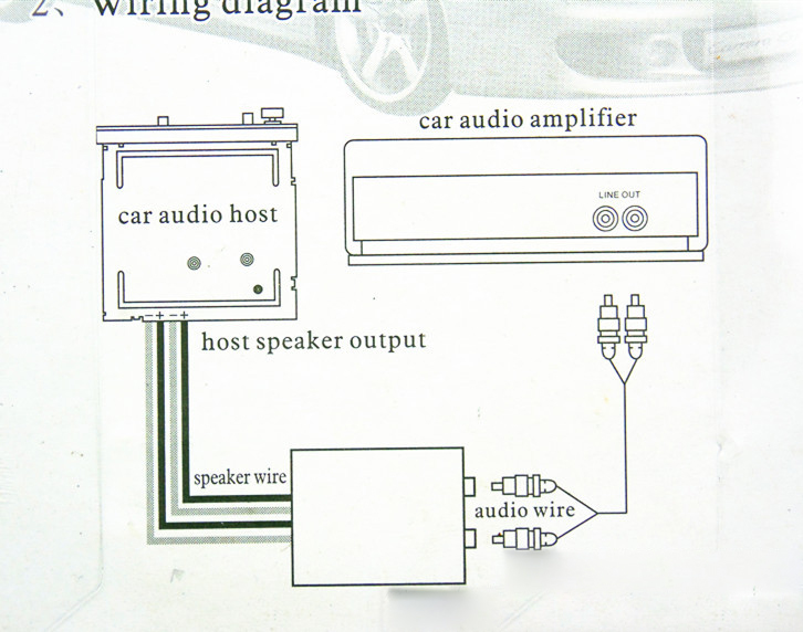 car vehicle subwoofer high to low impedance converter