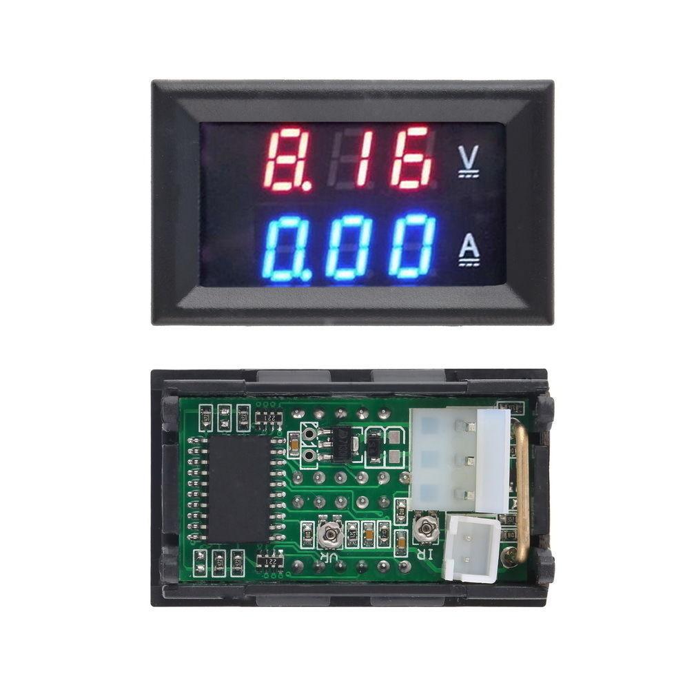 Dc 100v 10a Voltmeter Ammeter Bluered Redred Led Digital Volt Meter Wiring Diagram On For Gauge Ebay