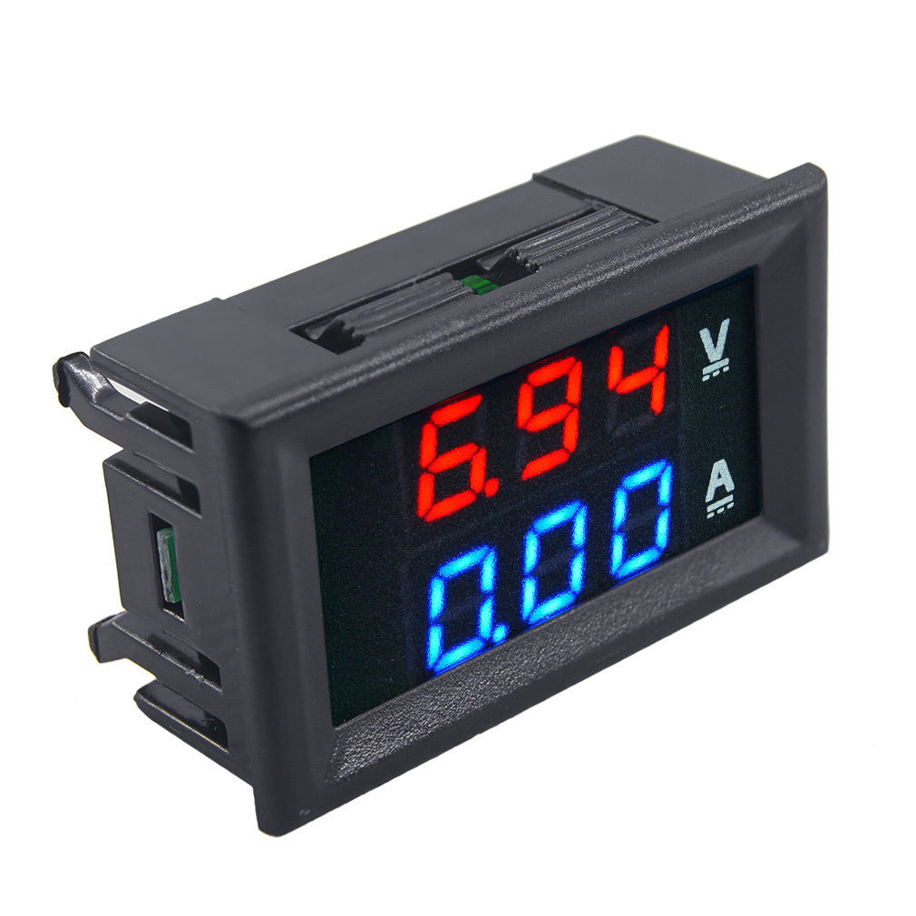 Digital Volt Meter : Dc v a voltmeter ammeter blue red led amp dual