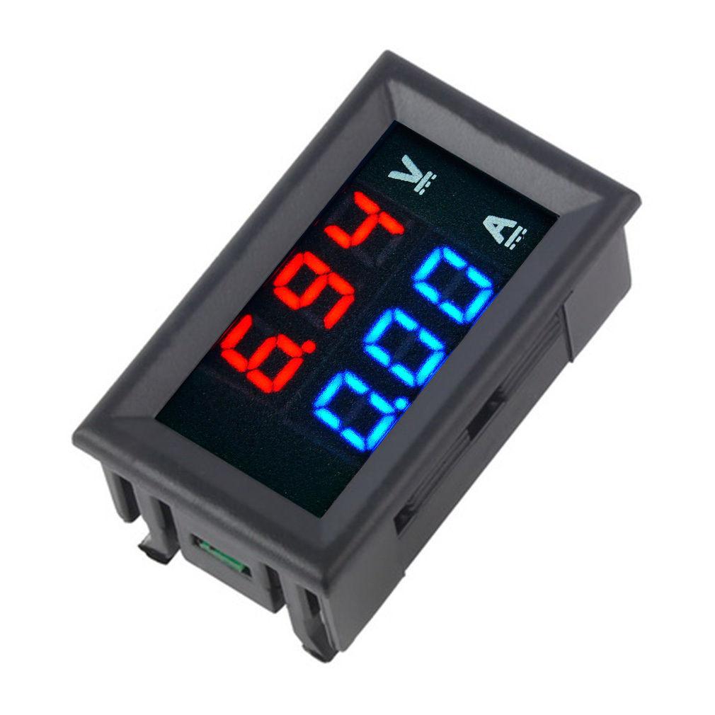 Digital Voltmeter Gauge : New dc v a voltmeter ammeter blue red led digital