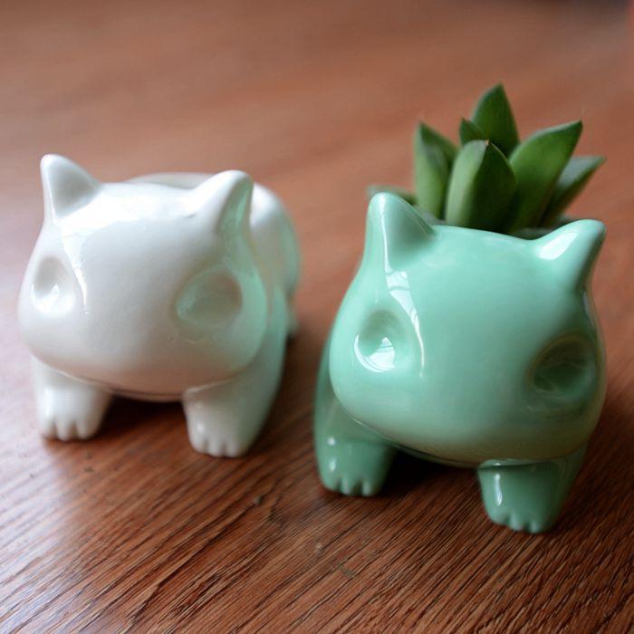 Pokemon Go Bulbasaur Home Decor Ceramic Art Flower Pot