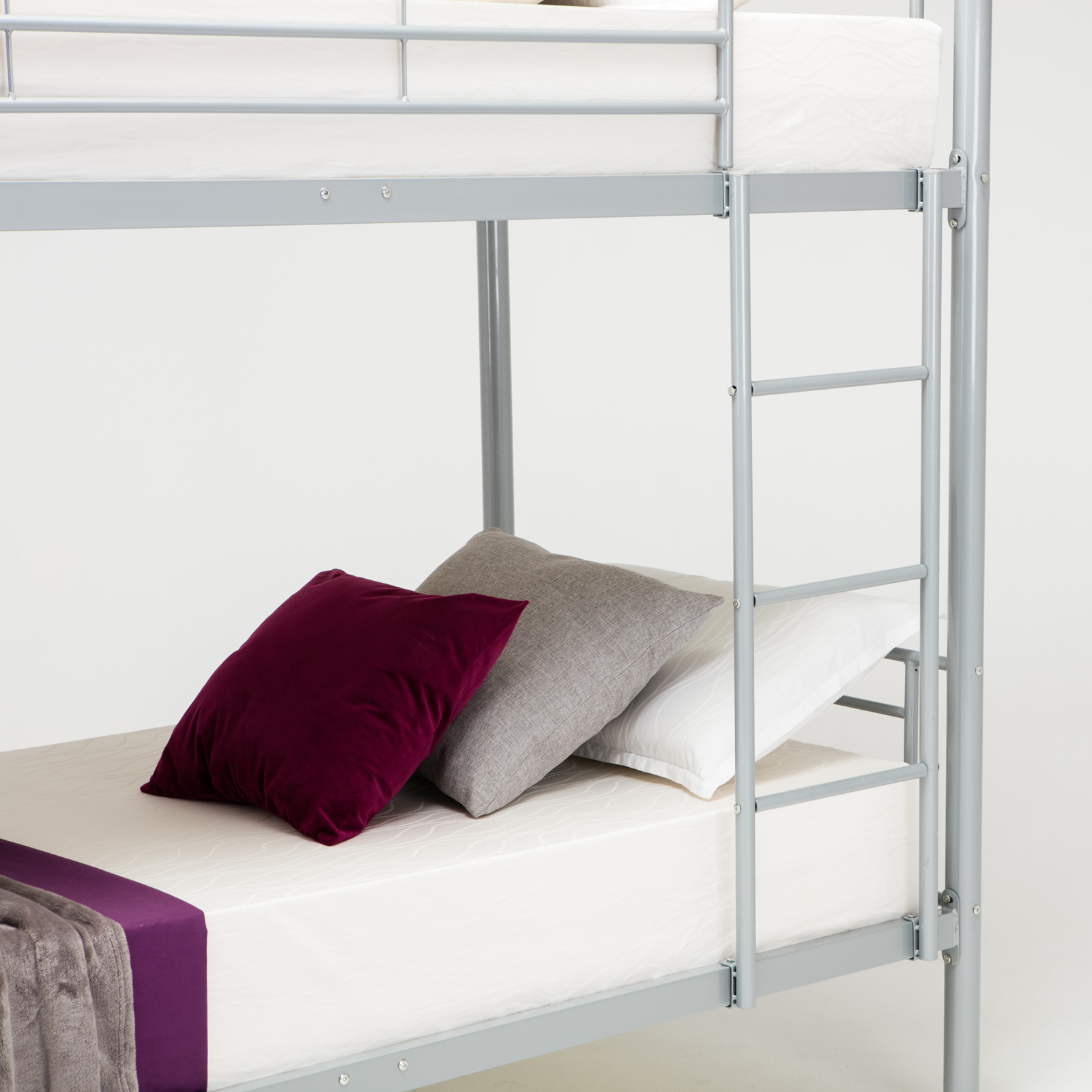 Twin Over Twin Bunk Metal Bed Frame Kids Adult Children