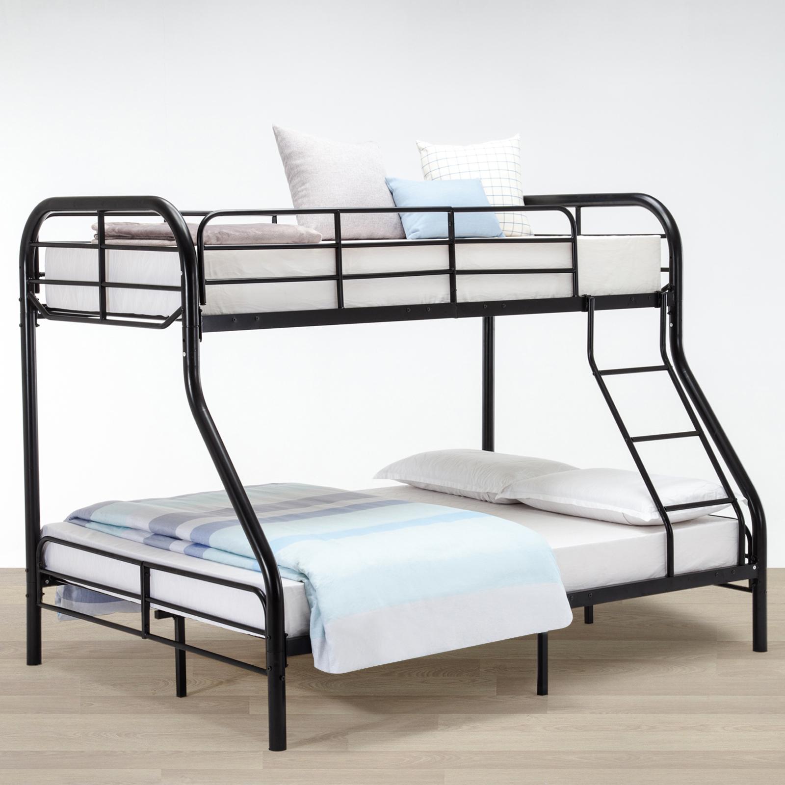 twin over full metal bunk bed frame kids teens adult dorm bedroom furniture ebay. Black Bedroom Furniture Sets. Home Design Ideas