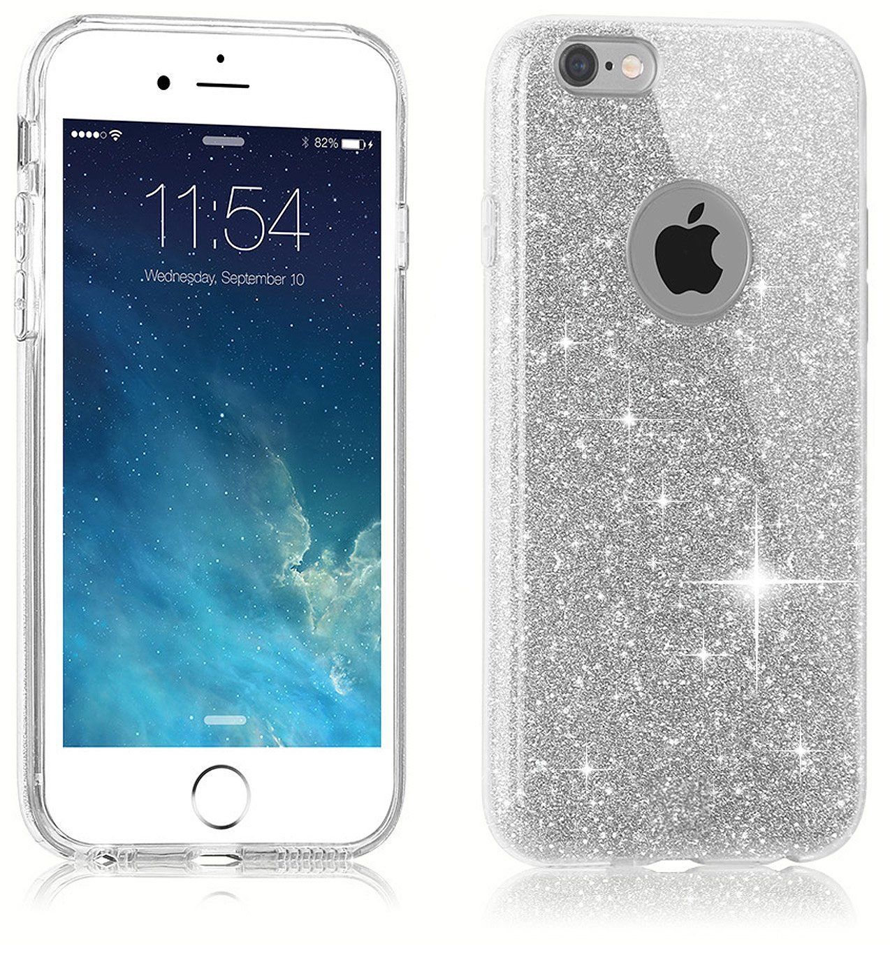 iphone 6 s plus luxury shockproof bling glitter gel soft cover for 1230