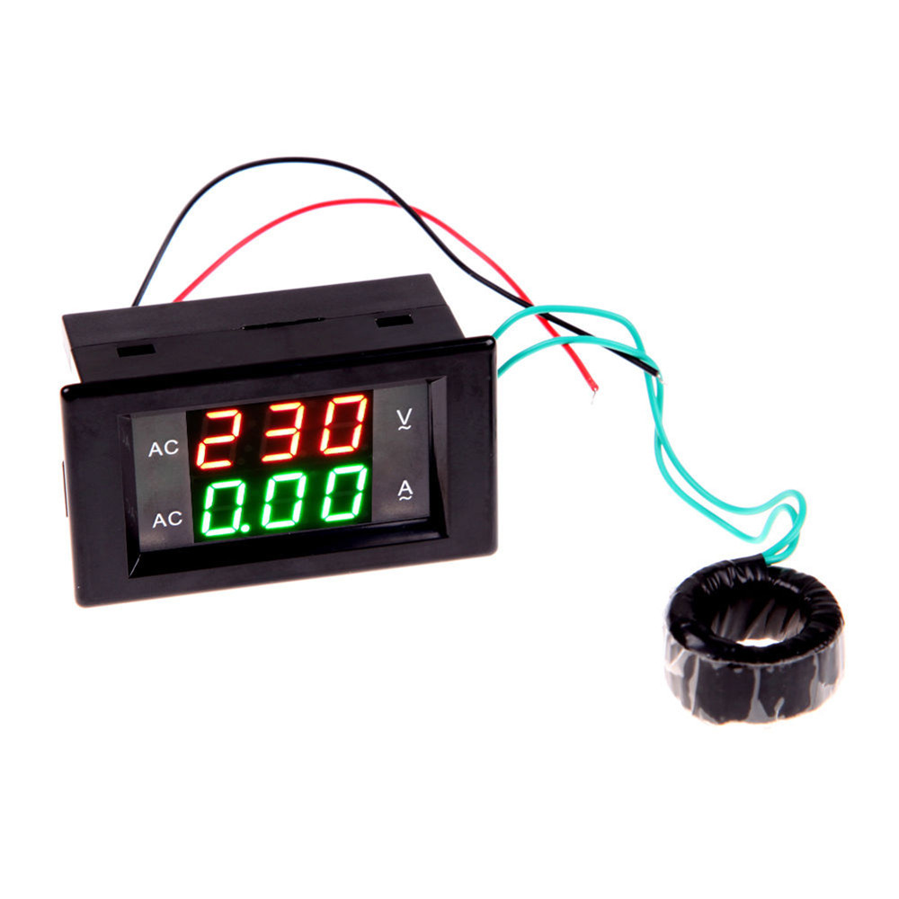 Lcd Panel Meter : Black digital ammeter voltmeter lcd panel amp volt meter