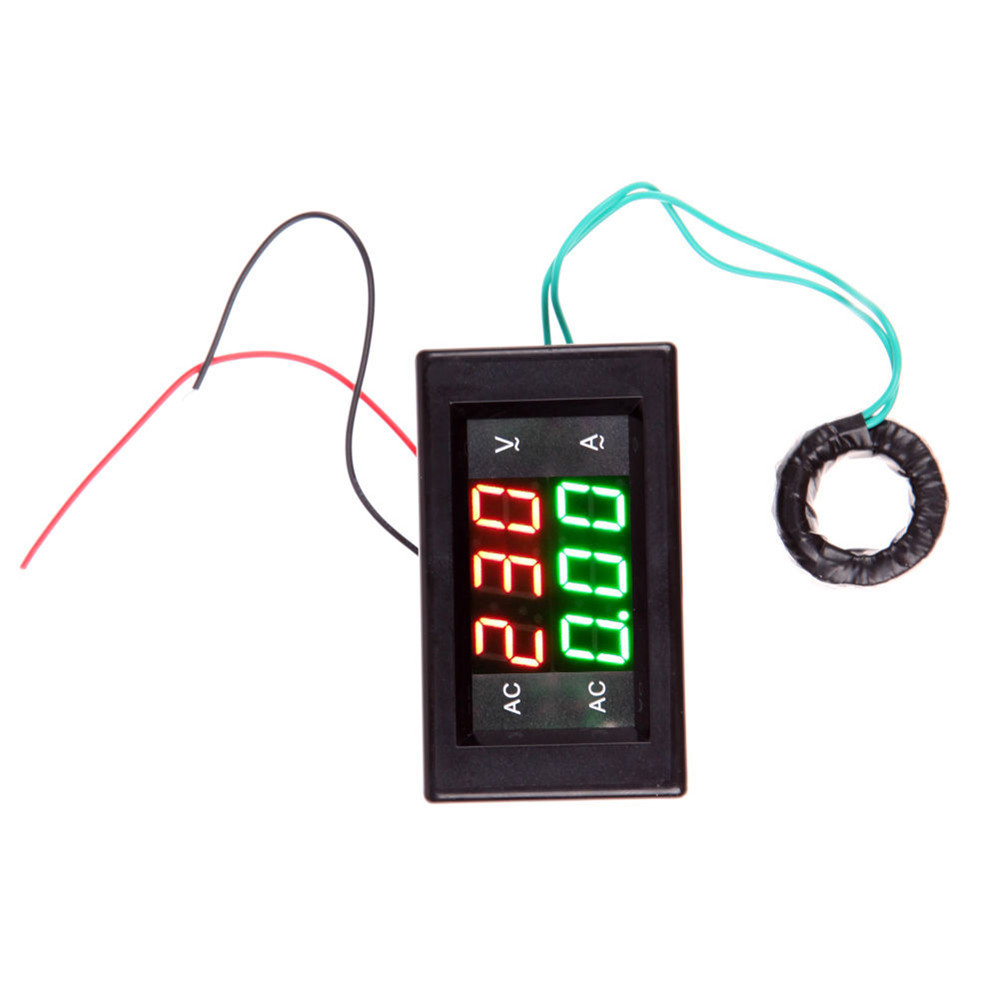 Digital Amp Meter : Ac digital ammeter voltmeter lcd panel amp volt meter a