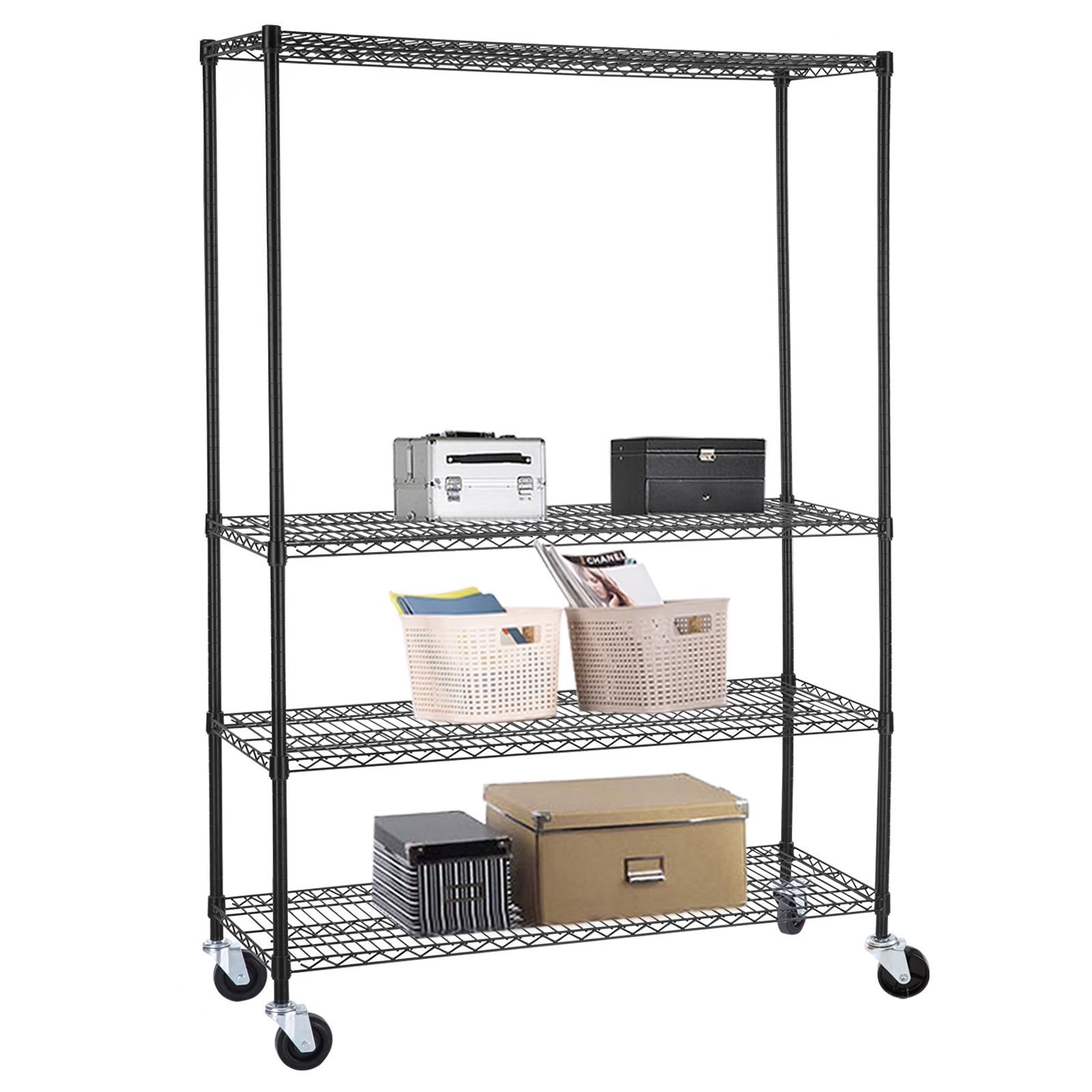 commercial metal shelving 4 tier 46 x82 x18 wire shelving rack 13753