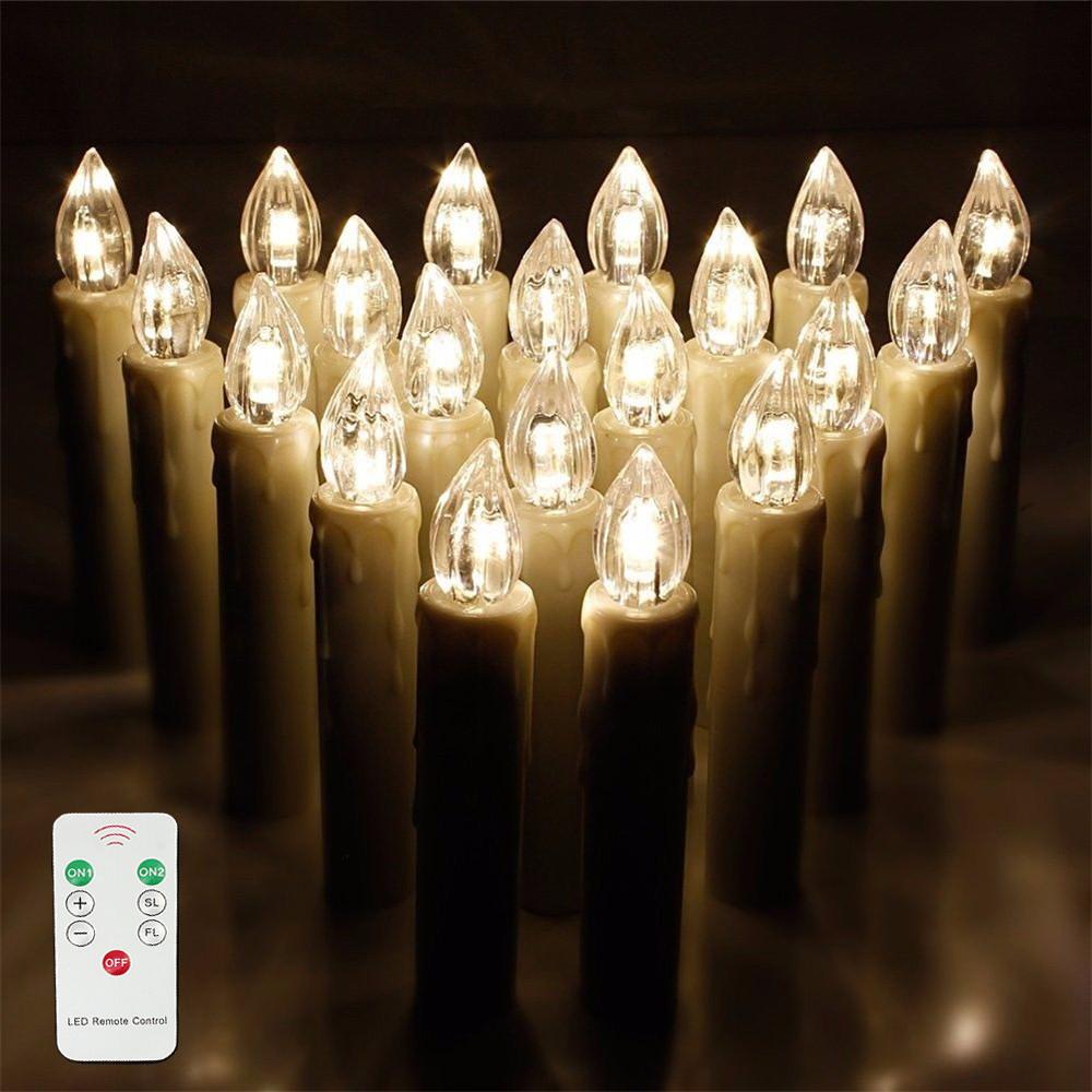 40x weihnachtskerzen led kerzen lichterkette weihnachtsdeko baumkerzen warmwei 713839426933 ebay. Black Bedroom Furniture Sets. Home Design Ideas