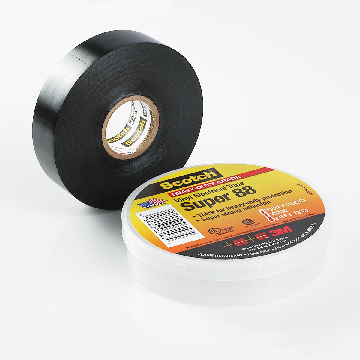 10 Rolls 3M Scotch Vinyl Electrical Tape Super-88, 3/4 in x 66 ft 22 yd | eBay