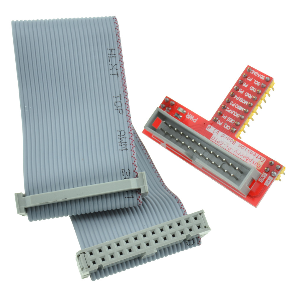 26 Pin Extension Flat Ribbon Cable Wire+Raspberry PI GPIO Extension ...