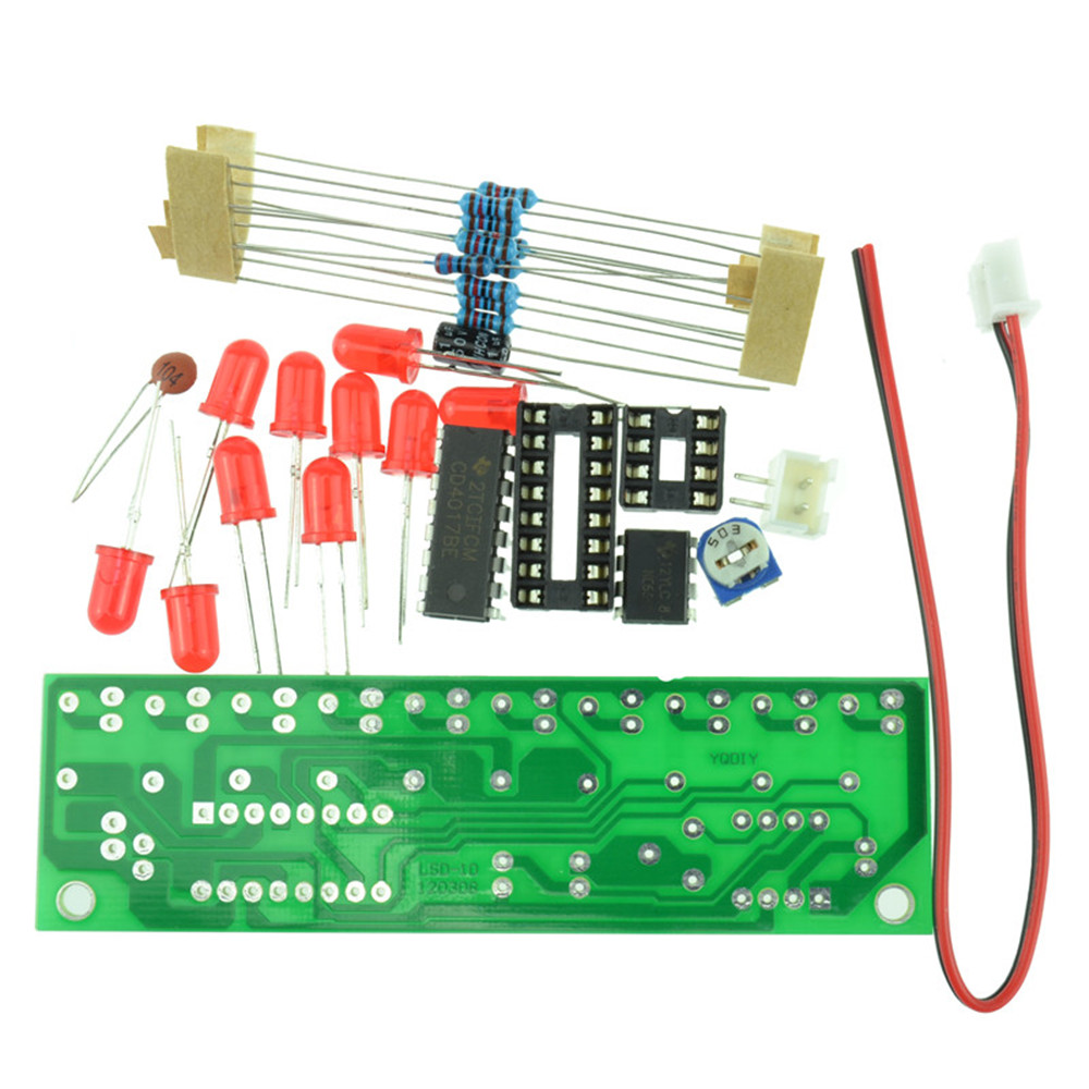 Ne555 Cd4017 Led Scrolling Flowing Red Light Smd Diy Kit Soldering Electronics Using Ic Ne555cd4017 Electronic Projects Circuits Item 1