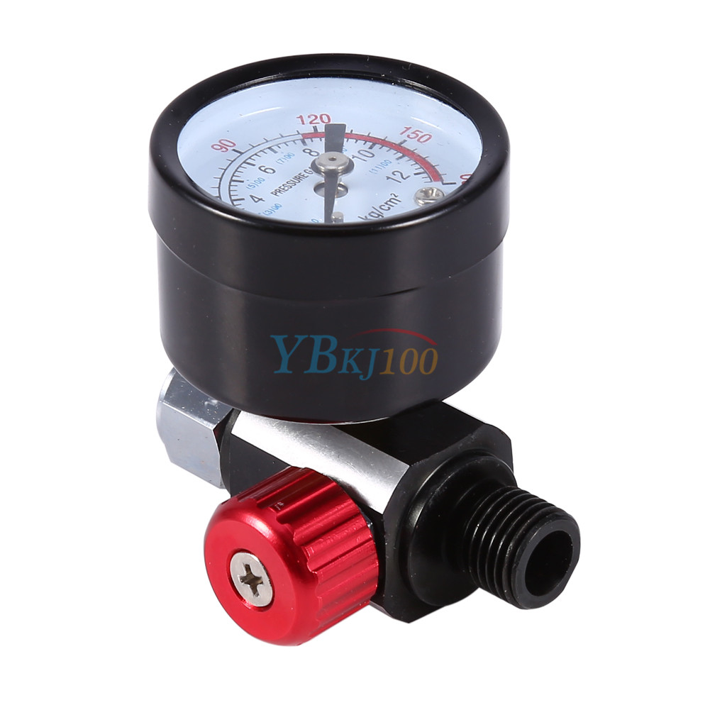 air pressure regulator gauge spray gun in line water trap filter tool kit. Black Bedroom Furniture Sets. Home Design Ideas