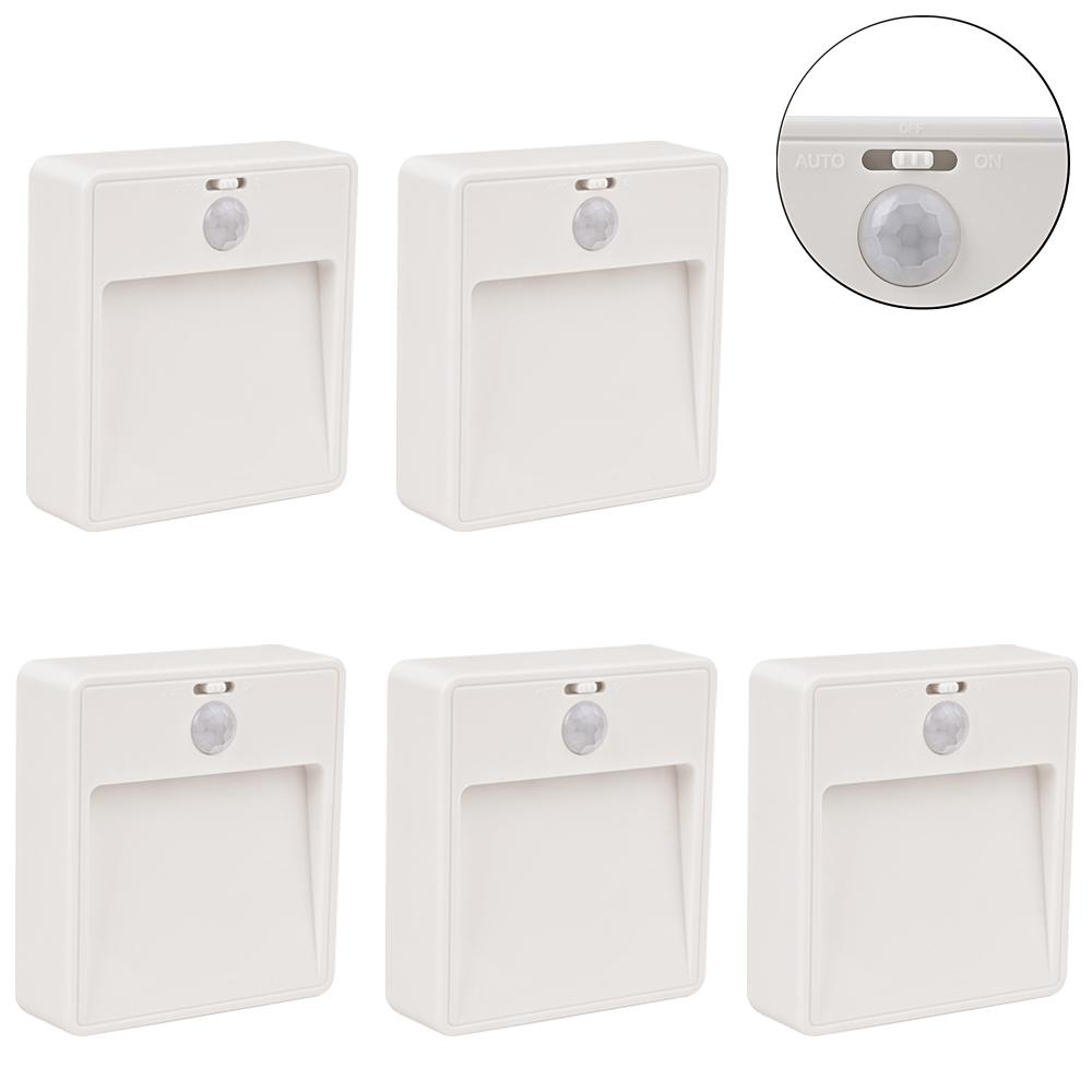 3 12er led nachtlicht mit bewegungsmelder sensor batterie unterbau nachtleuchte ebay. Black Bedroom Furniture Sets. Home Design Ideas