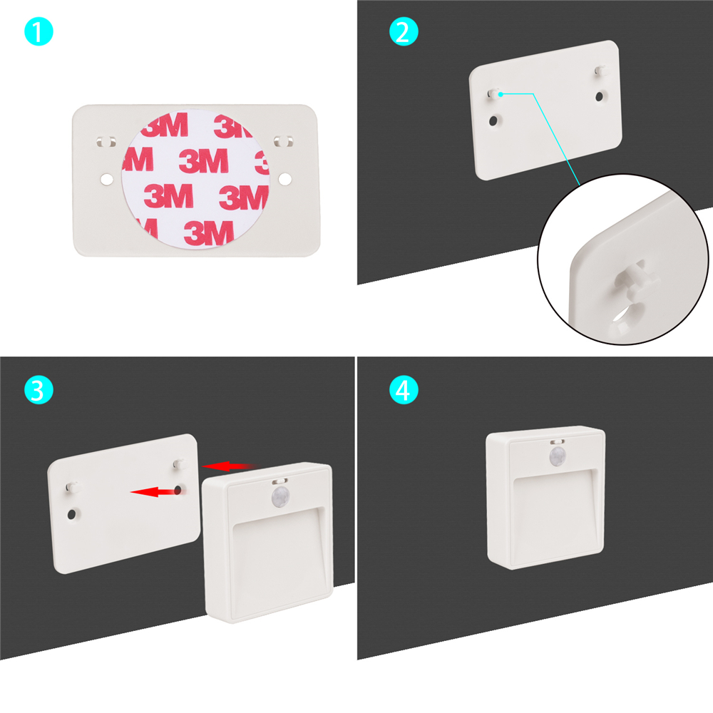 3 5er led unterbauleuchte bewegungsmelder batterie schrankleuchte sensor lampe ebay. Black Bedroom Furniture Sets. Home Design Ideas