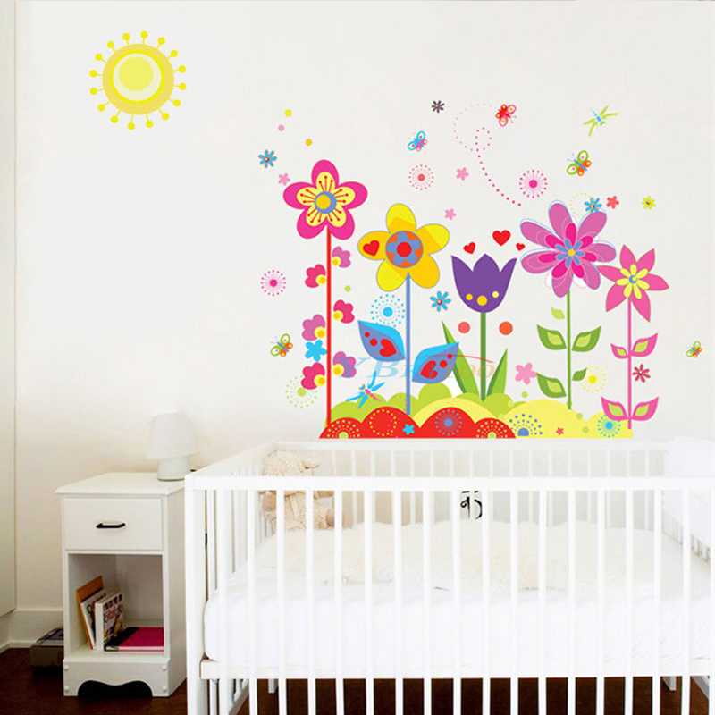 Diy removable vinyl flower butterfly wall stickers art for Butterfly wall mural stickers