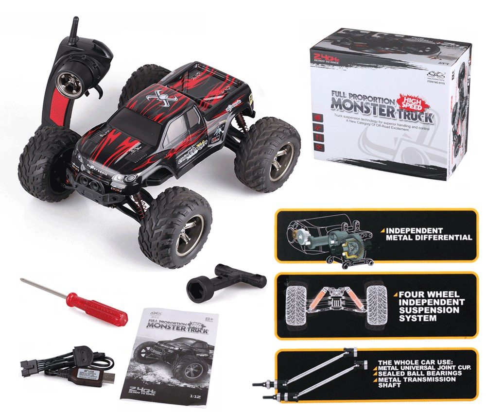 40 Mph 1 12 Scale Rc Car 2 4g 4wd High Speed Fast Remote