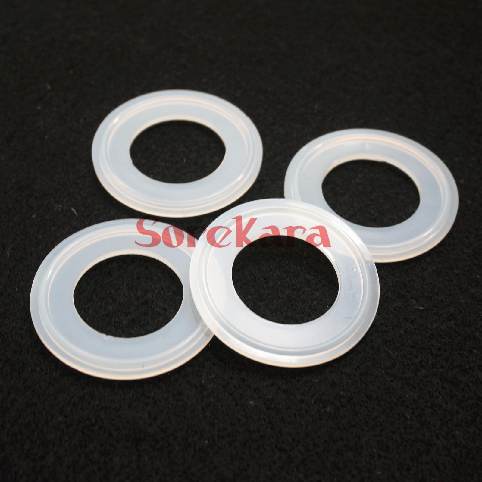 57mm sanitario TRI CLAMP Silicona Sellado de juntas 5 un