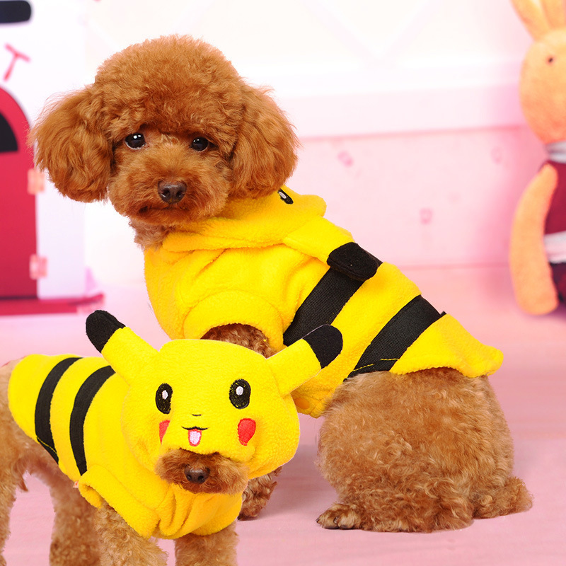 Cup Dog Clothes Cute Pet Halloween Pokemon Costumes Coat ...