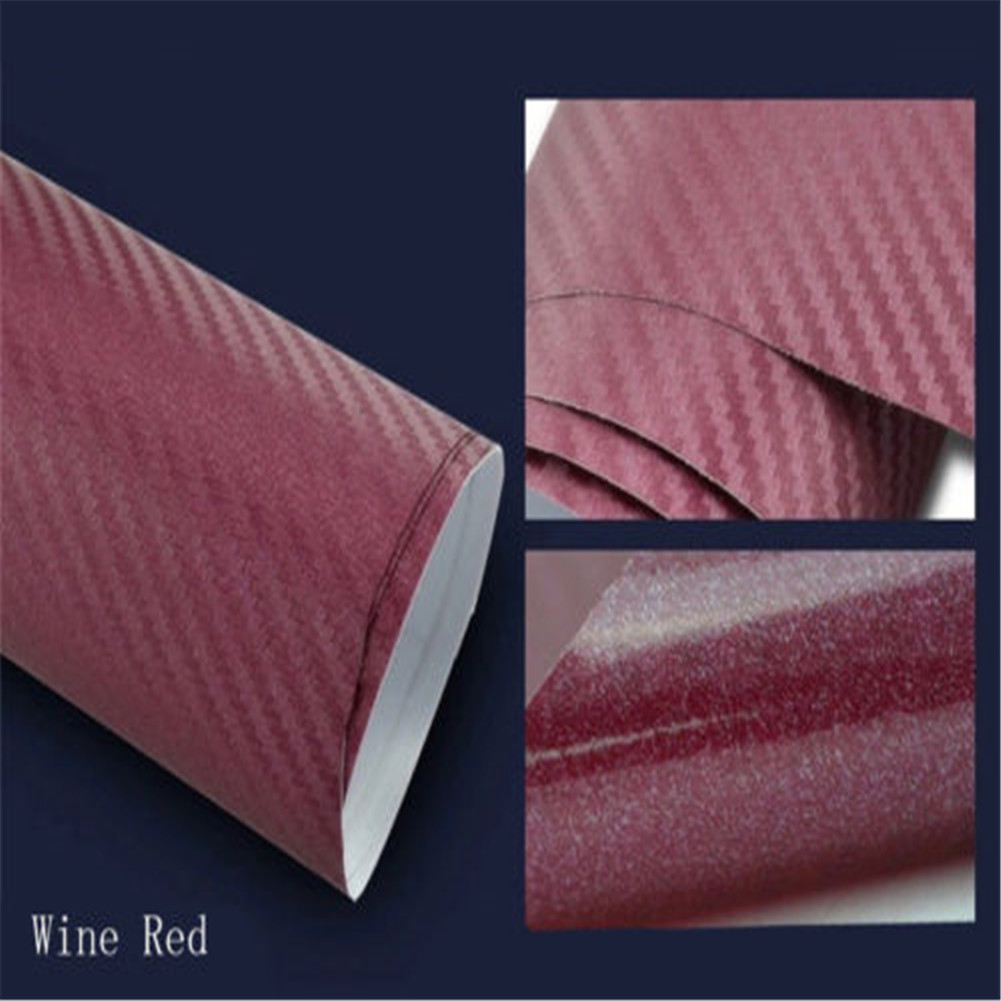 Details about 3D Carbon Fiber Vinyl Car Truck Wrap Sheet Film Sticker Decal  Roll 13 Colors