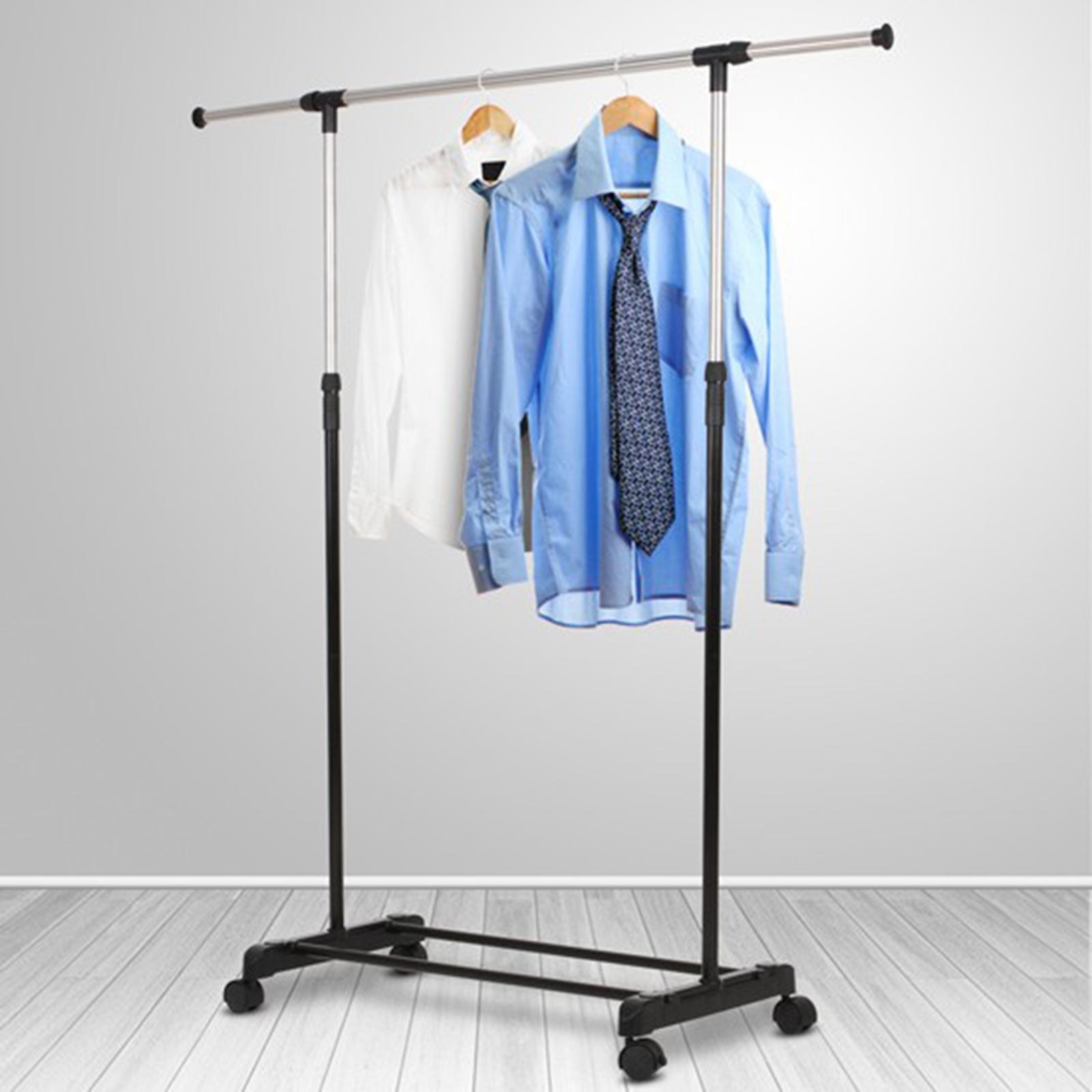 portant v tements porte manteau support mobile roulette. Black Bedroom Furniture Sets. Home Design Ideas