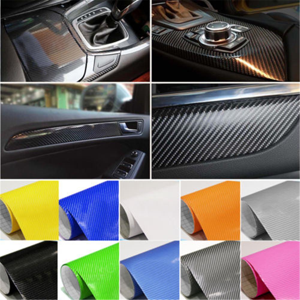 3D 4D Carbon Fiber Matte Vinyl Film Car DIY Wrap Sheet Roll Film Sticker Decal#