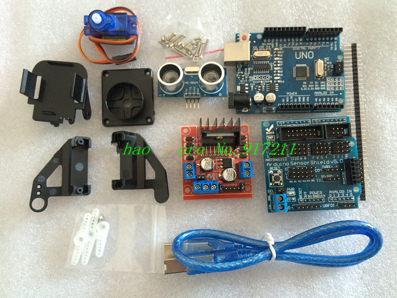Smart car tracking motor robot chassis kit wd