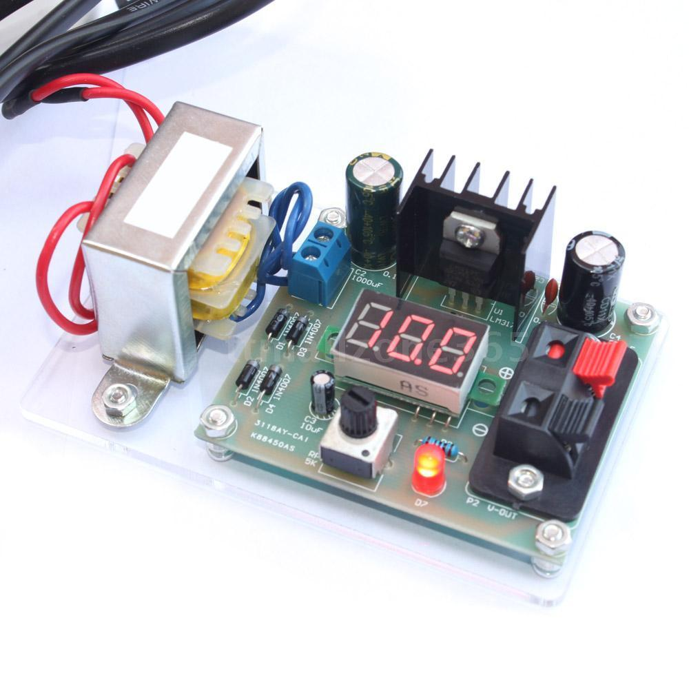 Lm317 Adjustable Voltage Power Supply Board Kit Electronics Diy 125 10a 1 30v Variable With Categories