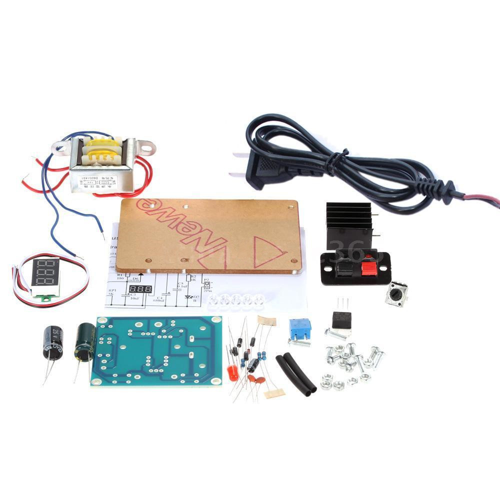 New Continuously Adjustable Regulated Dc Power Supply Diy Kit Lm317 6 12v Variable 125 Eu
