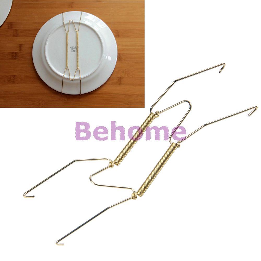 plate spring dismountable hook wall hanger holder hanging wire art decoration ebay. Black Bedroom Furniture Sets. Home Design Ideas