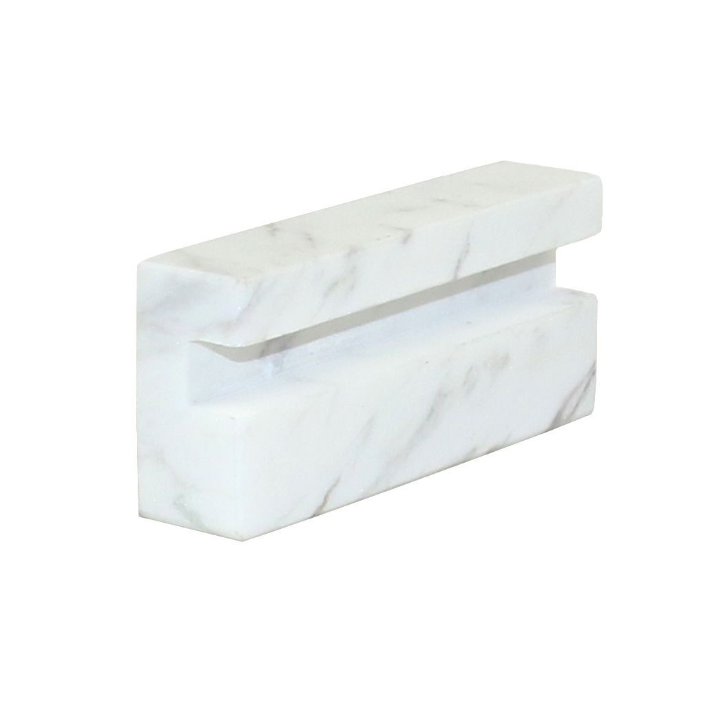 lieomo White Marble Business Card Holder Office Desk ID Credit Card ...