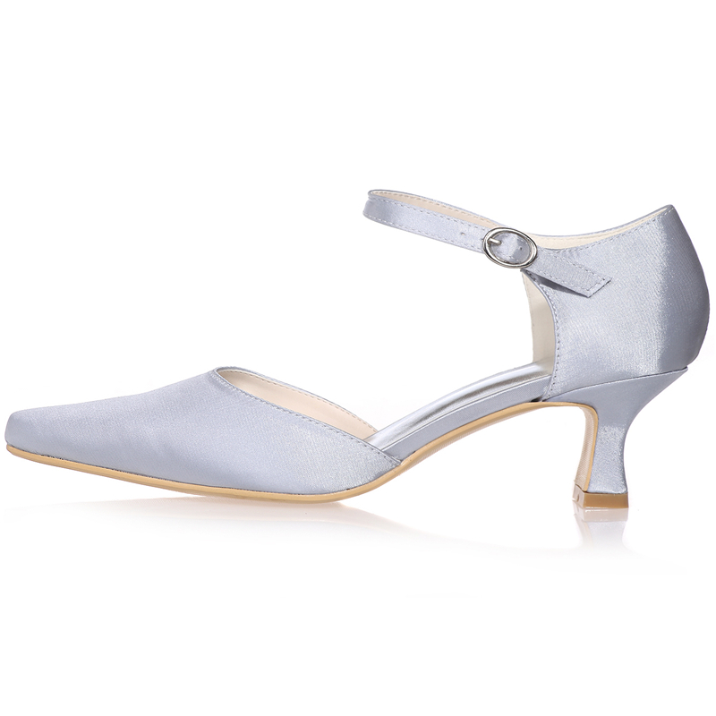 Elegant Pointed SATIN Wedding Shoes Women Formal Party