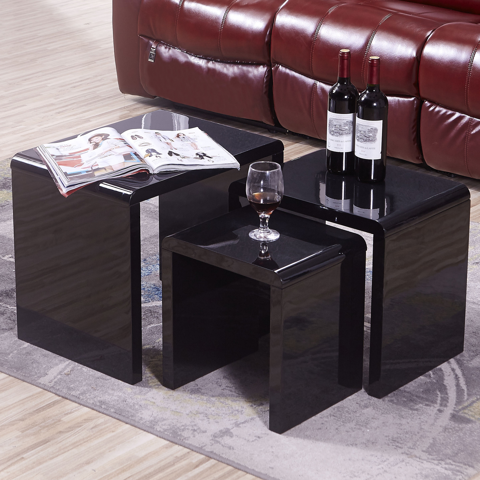 Black Coffee Table Nest