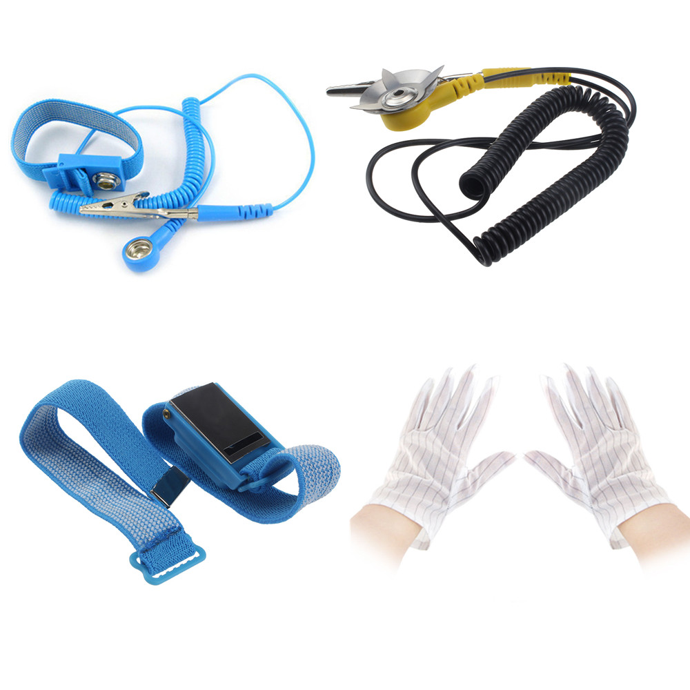 Anti-Static Electricity Grounding Wristband Wrist Strap//Cord//Gloves Ground Cable