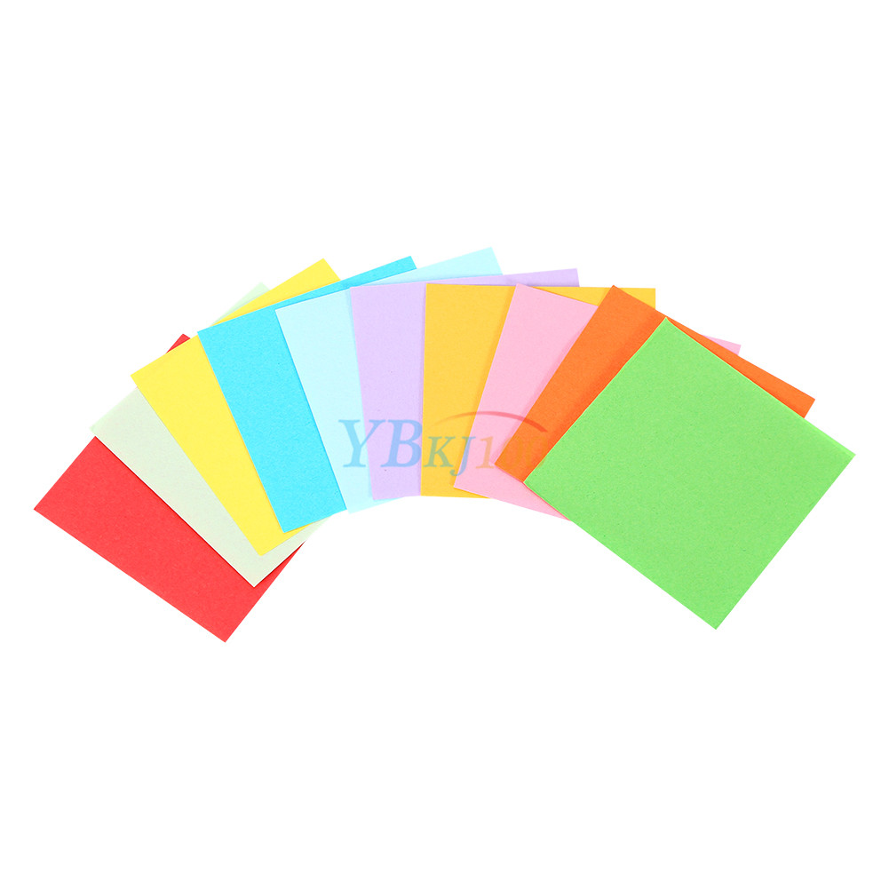 520pcs square folding lucky sheets mixed color double for Colour paper craft