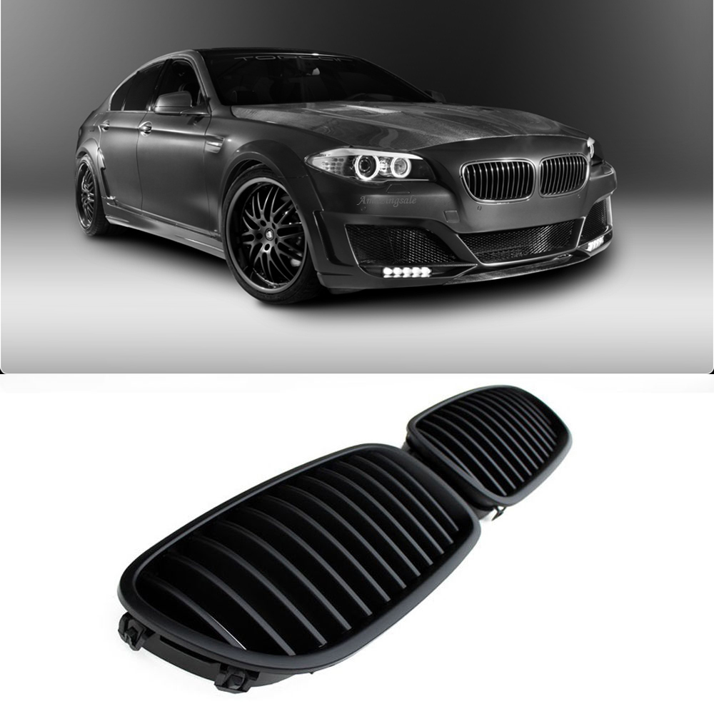 Front Kidney Grilles Grill For BMW F10 F18 M5 535i 2010-2014 Matte Black | eBay