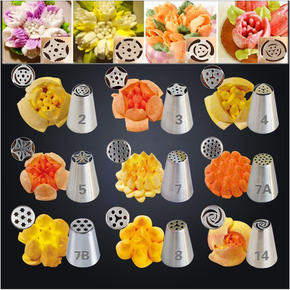 79Pcs Excellent Russian Tulip Icing Piping Nozzles Cake ...