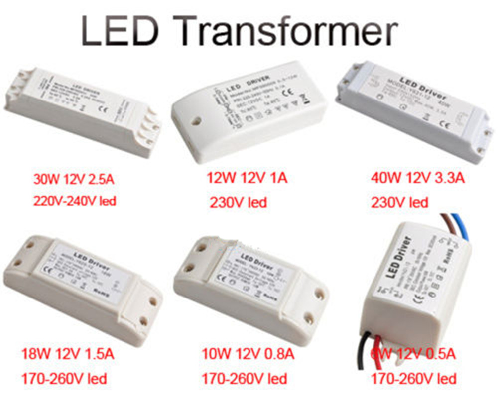 6w 10w 12w 18w 30w 40w led power supply led driver transformer dc6w 10w 12w 18w 30w 40w led power supply led driver transformer dc 12v light bulb