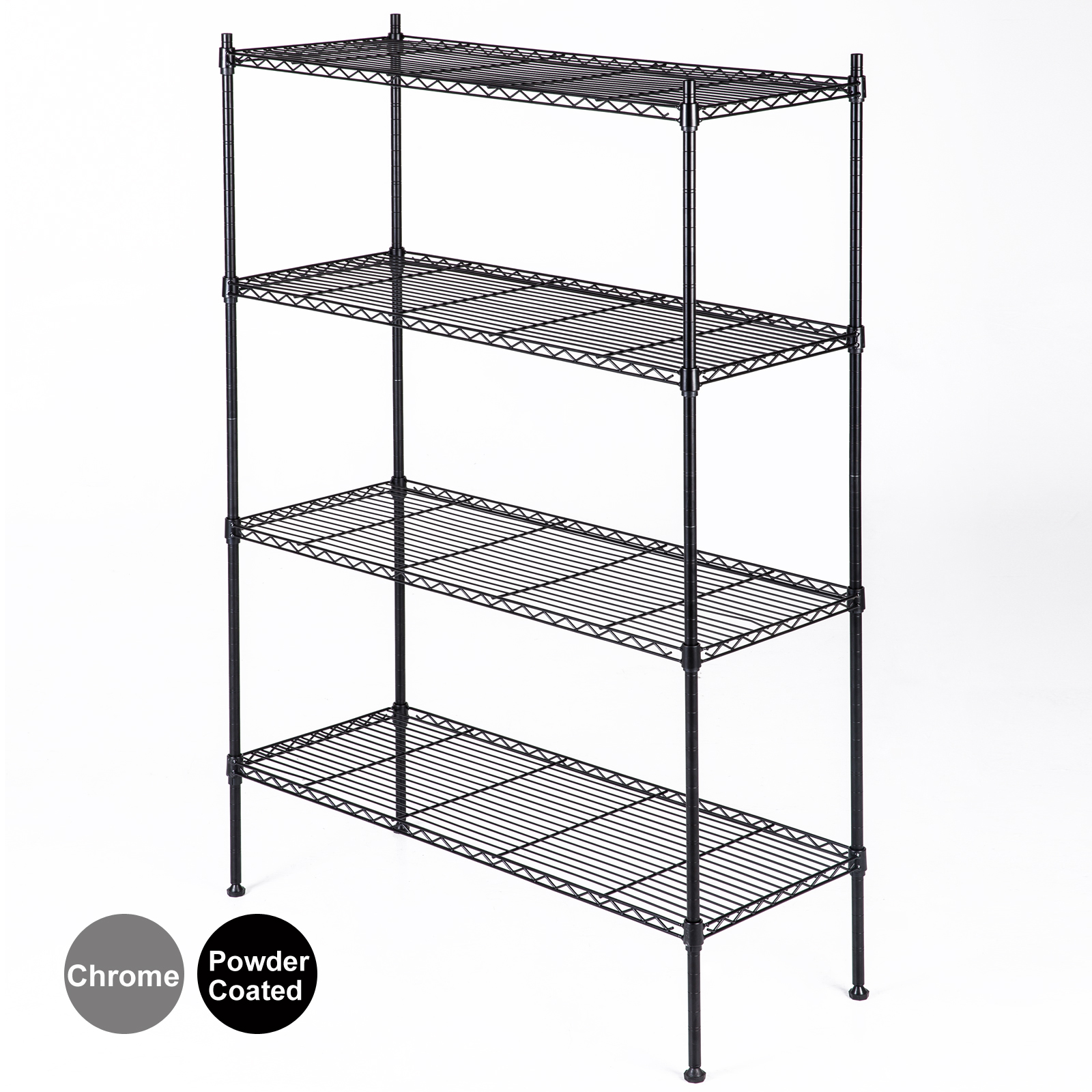 chrome kitchen storage racks 4 tier wire shelving rack organizer kitchen steel shelf 5421