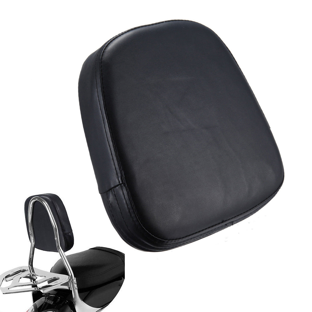 Universal Motorcycle Seats : Universal black motorcycle bar back seat backrest cushion