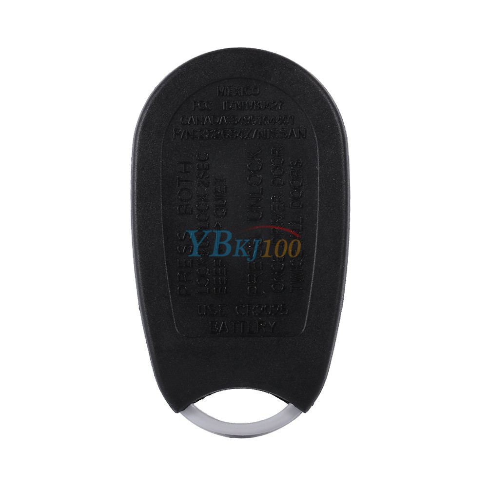 Infiniti G20 Battery: 4 Buttons Remote Key Keyless Fob Case Shell For Nissan