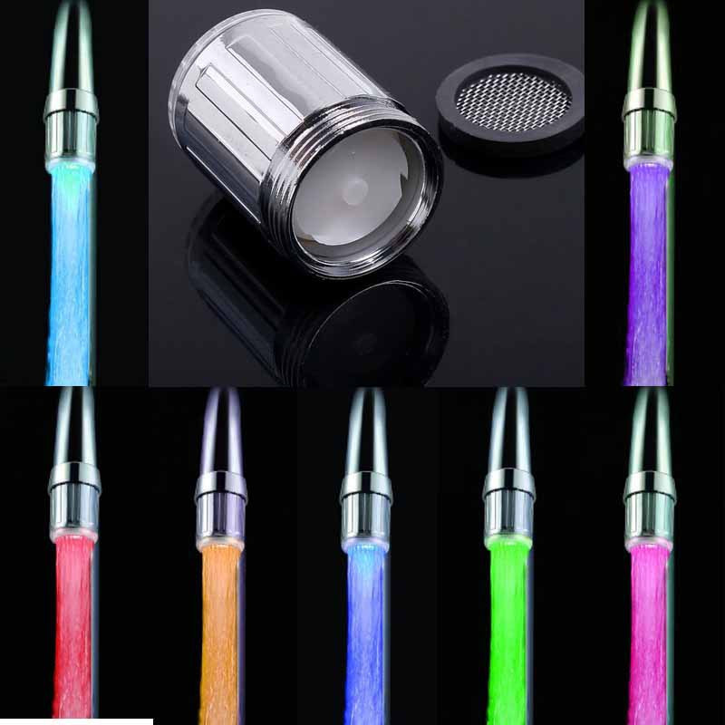 RGB/1/3Color Temperature Sensor Water Tap Faucet Colorful LED Light ...