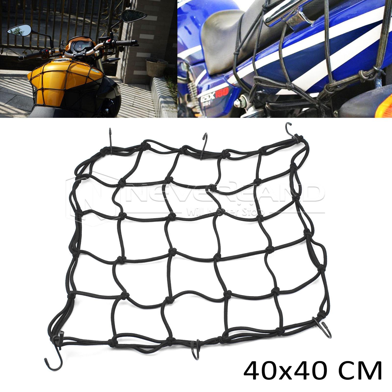 40 40cm 6 crochet filet araign e porte bagage casque elastique noir pour moto ebay. Black Bedroom Furniture Sets. Home Design Ideas