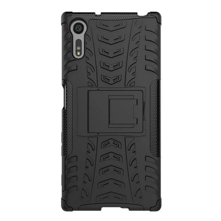 Rugged Armor Hybrid Rubber Hard Stand Case Cover For Sony