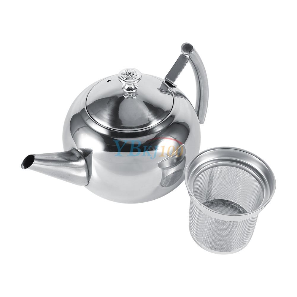 Ml stainless steel teapot coffee pot tea leaf