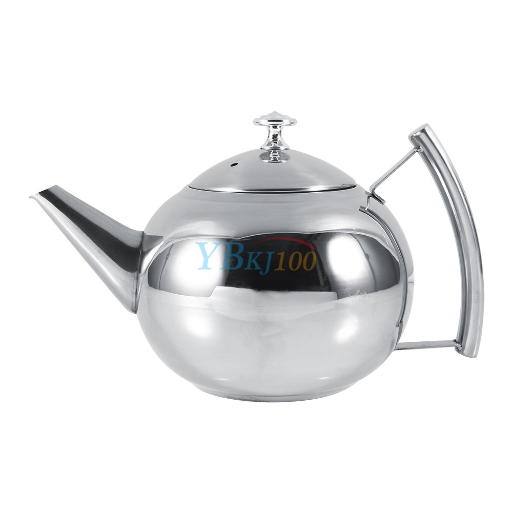 1500ml stainless steel teapot coffee pot tea leaf infuser strainer durable new ebay. Black Bedroom Furniture Sets. Home Design Ideas