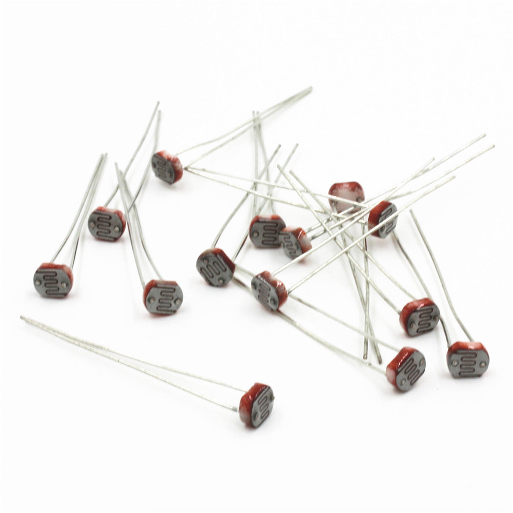 20pcs photoresistor gl5516 ldr cds 5mm light