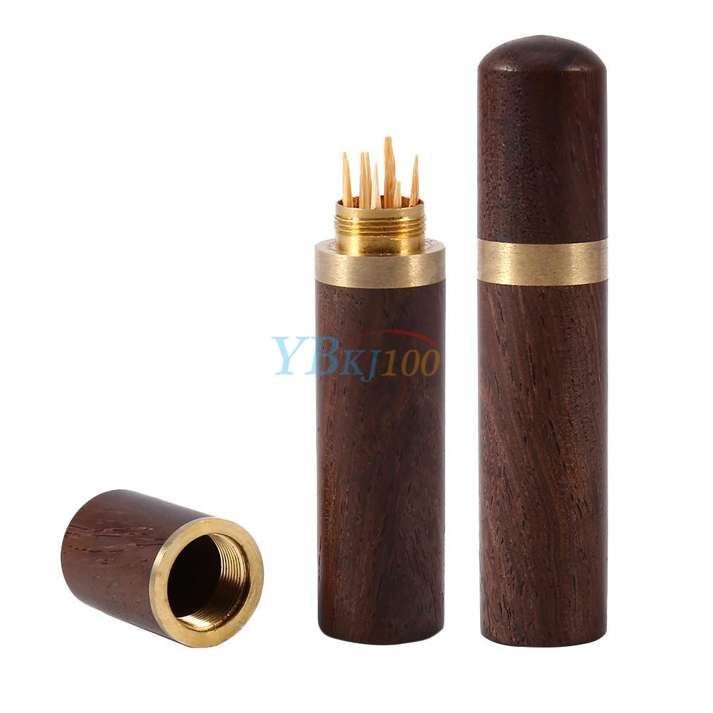 1pcs ebony wood wooden toothpick holder case capsule box. Black Bedroom Furniture Sets. Home Design Ideas